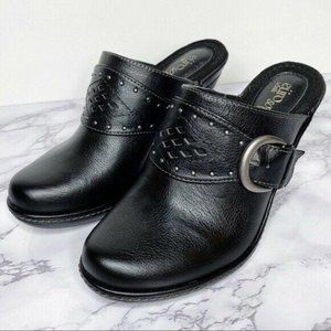 EuroSoft by Sofft | Coraline Black Leather Clogs
